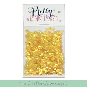 4mm Sunshine Glow Sequins