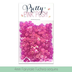 4mm Fairytale Fuchsia Sequins