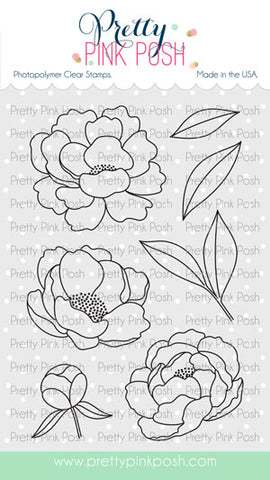 Pretty Pink Posh: Peonies stamp set
