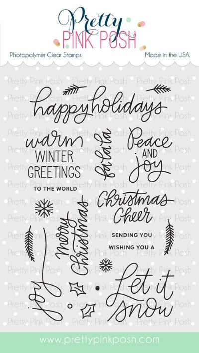 Holiday Greetings Stamp Set