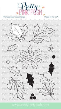 Elegant Holly Stamp Set