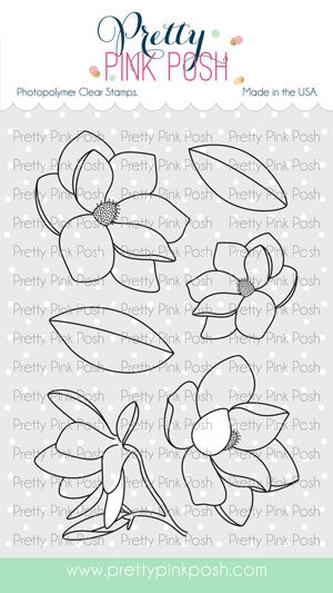 Magnolia Flowers Stamp Set