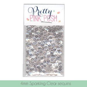 Sequins Sparkling Clear 4mm