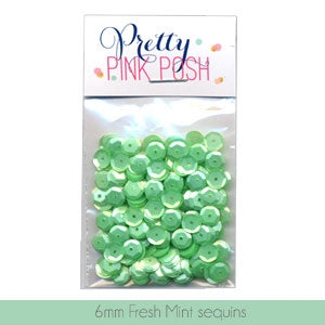 6mm Fresh Mint Sequins