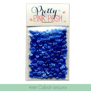 4MM Cobalt Sequins - Cupped Sequins