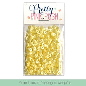 4mm Lemon Meringue Sequins