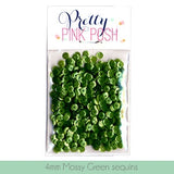 4MM Mossy Green Sequins - Cupped Sequins