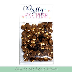 Metallic Bronze Sequins