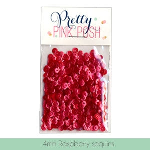 4MM Raspberry Sequins