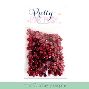 4mm Cranberry Sequins