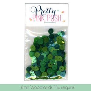 6mm Woodlands Mix Sequins