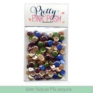 6mm Nature Mix Sequins
