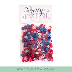 4mm Patriotic Sequins Mix