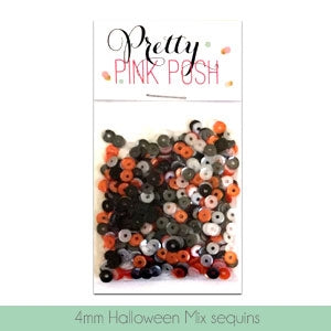 4mm Halloween Sequins Mix - Cupped Sequins