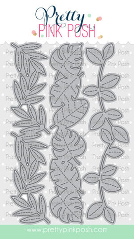 Stitched Leafy Borders
