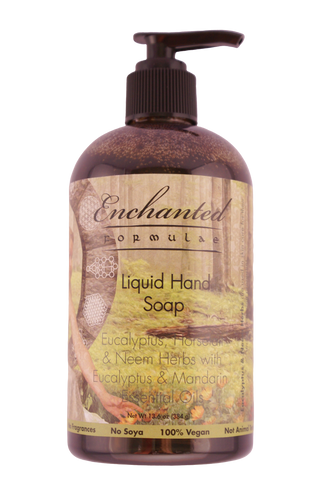 LIQUID HAND SOAPS with Herbs & Essential Oils