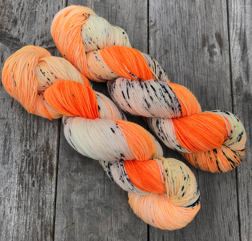 Vitamin C- Hand Dyed Superwash Merino Nomad Sock Fingering Yarn