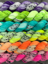 Load image into Gallery viewer, Mini Set- More Than Monochrome Brights- Superwash Merino and Nylon Nomad sock yarn