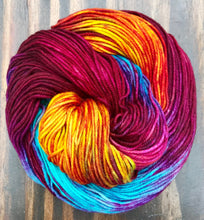 Load image into Gallery viewer, Purple Dragon - Hand Dyed Superwash Merino Wool Essential Dk yarn