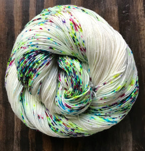 Calaveras- Hand Dyed Superwash Merino Nylon Nomad Sock Fingering Yarn