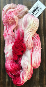 Dead Snow-  Hand Dyed Nomad Superwash Merino and Nylon Sock Fingering Yarn