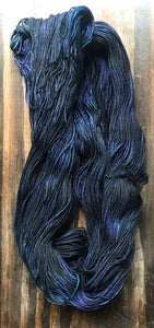 Ink- Hand Dyed Nomad Superwash Merino and Nylon Fingering Sock Yarn