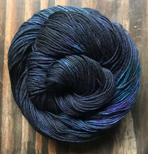 Load image into Gallery viewer, Ink- Hand Dyed Nomad Superwash Merino and Nylon Fingering Sock Yarn