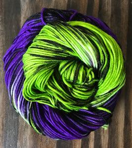 Frankie's Demise - Hand Dyed Essential DK Superwash Merino Wool yarn