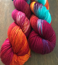 Load image into Gallery viewer, Purple Dragon -  Hand Dyed Nomad Superwash Merino and Nylon Sock Yarn