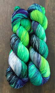 St. Elmo's Fire- Hand Dyed Nomad Superwash Merino Sock Fingering Yarn