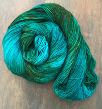 Load image into Gallery viewer, Chrysocolla- Hand Dyed Nomad Superwash Merino and Nylon Fingering Sock Yarn