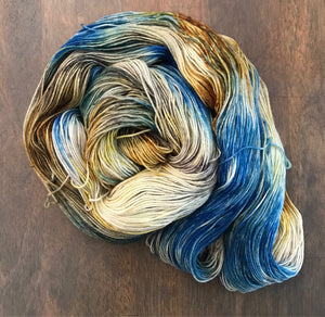 Conchology- Hand Dyed Nomad Superwash Merino Sock Fingering Yarn