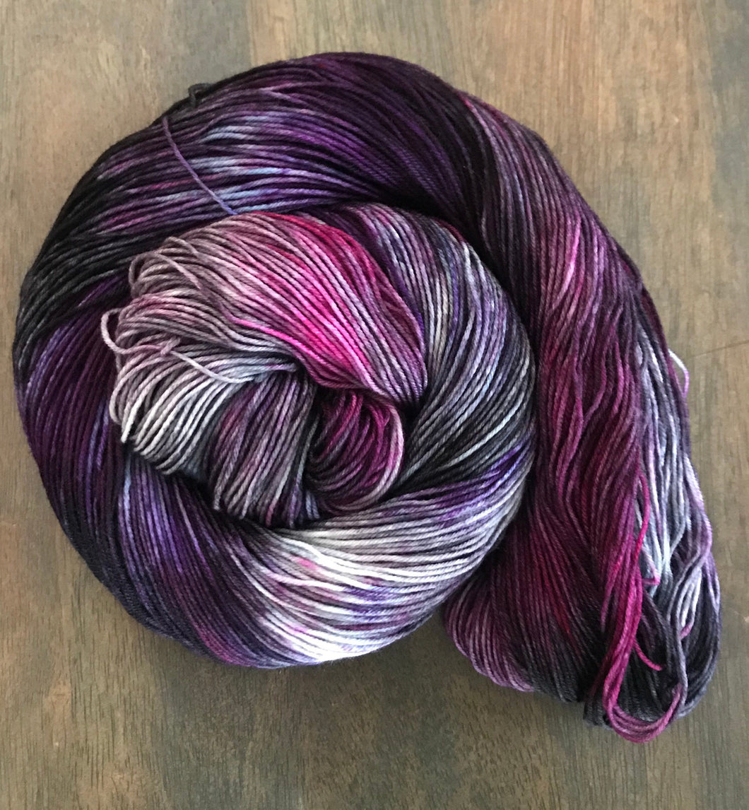 Fashionably Late- Hand Dyed Nomad Superwash Merino Sock  Fingering Yarn