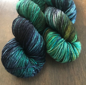 Naiad- Hand Dyed Nomad Superwash Merino and Nylon Fingering Sock Yarn