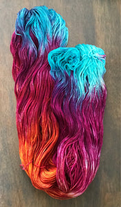 Purple Dragon -  Hand Dyed Nomad Superwash Merino and Nylon Sock Yarn