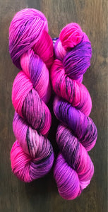 Dark Star- Hand Dyed Superwash Merino Nomad Sock Fingering Yarn