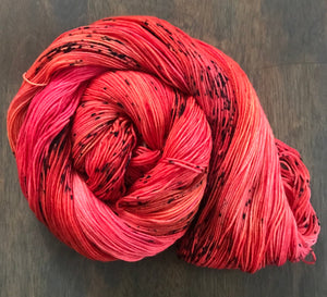 The Floor is Lava- Hand Dyed Superwash Merino Nomad Sock Fingering Yarn