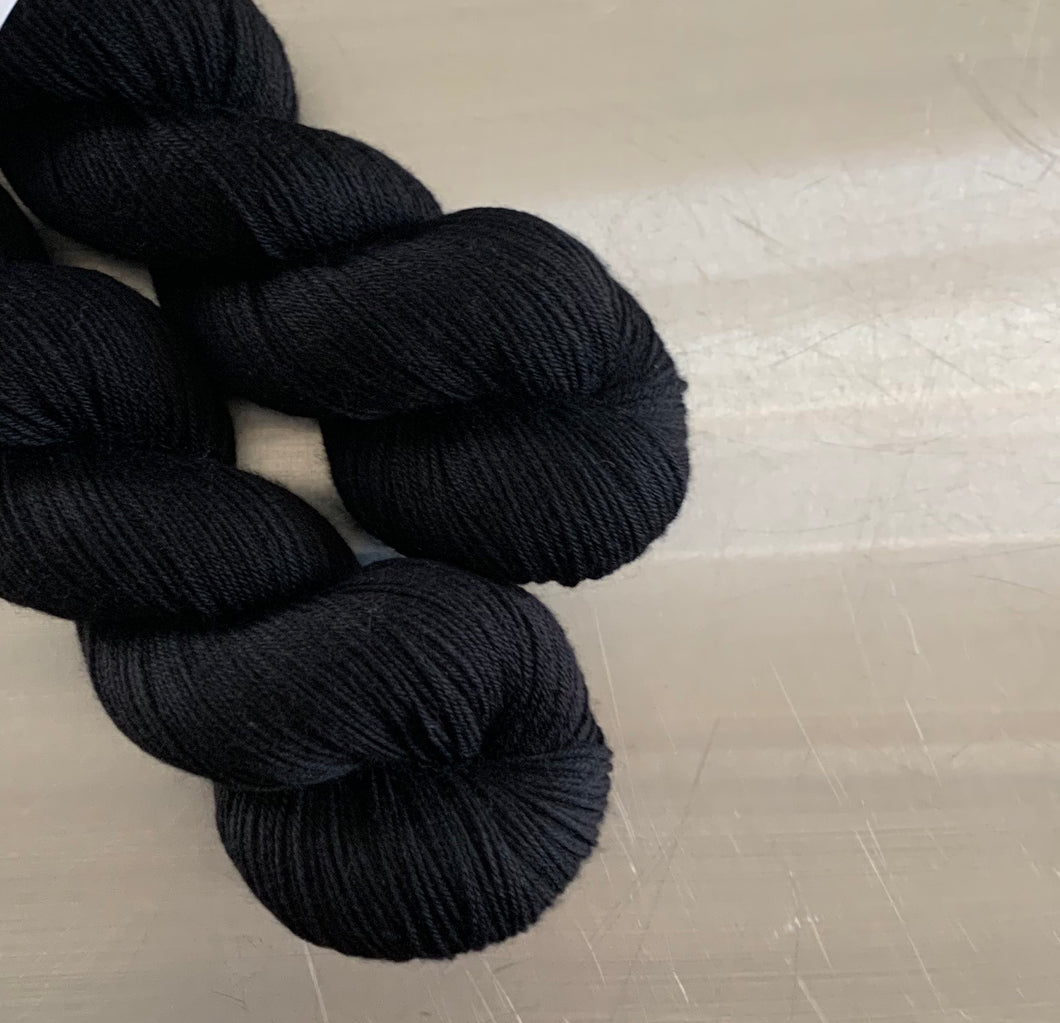 Basic Black Nomad Sock Yarn