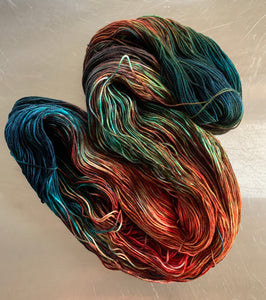 Burl-  Hand Dyed Nomad Superwash Merino and Nylon Sock Fingering Yarn