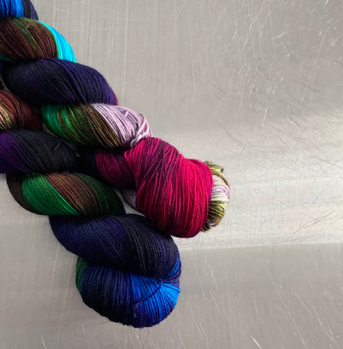 Chrysolina -  Hand Dyed Superwash Merino and Nylon Nomad Sock Yarn