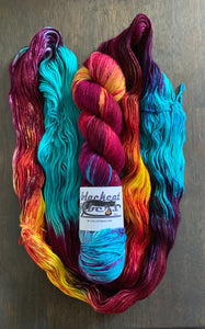 Purple Dragon - Hand Dyed Superwash Merino Wool Essential Dk yarn