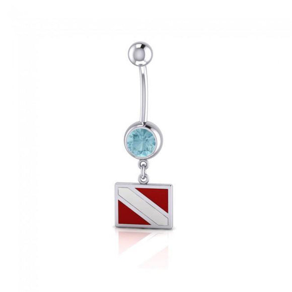 Dive Flag Sterling Silver Body Jewelry BJ009