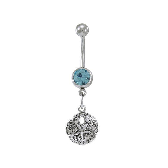 Sand Dollar Sterling Silver Body Jewelry BJ012