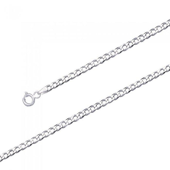 Curb Sterling Silver Chain Large Version CH3140