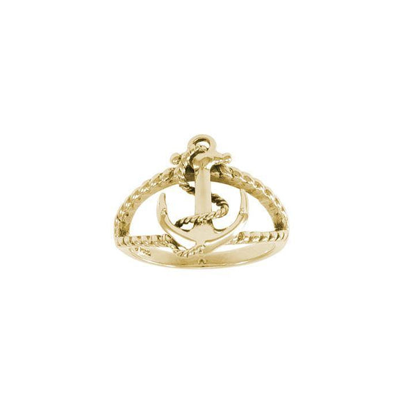 Anchor Solid Gold Ring GRI1461