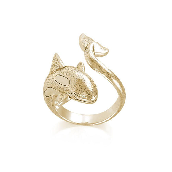 Orca Whale Solid Gold Wrap Ring GRI1807