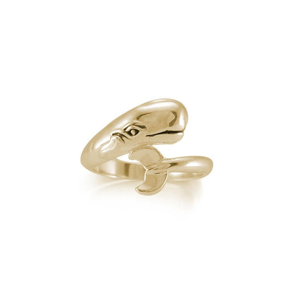 Whale Solid Gold Wrap Ring GRI1809