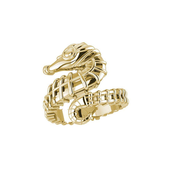 Seahorse Solid Gold Wrap Ring GRI1859
