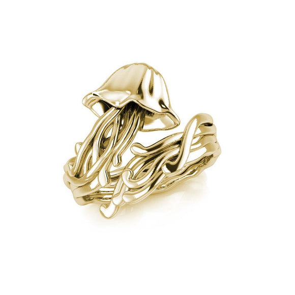 Box Jellyfish Solid Gold Wrap Ring GRI1896