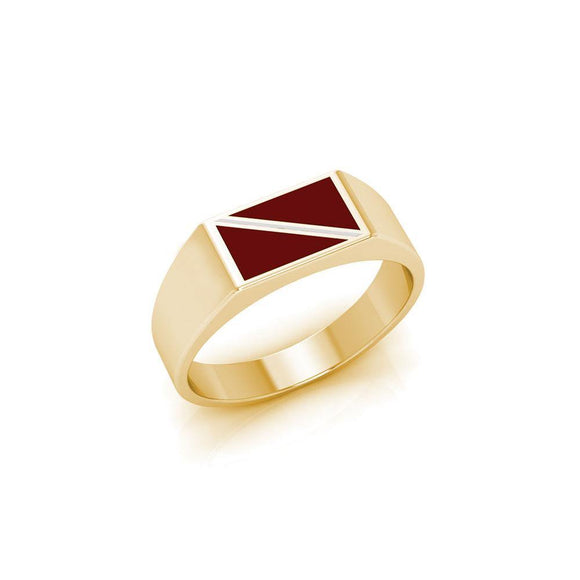Dive Flag Solid Gold Ring with Enamel GTR1794